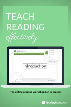 Become a master teacher of reading with the free online workshop from Reading Horizons.