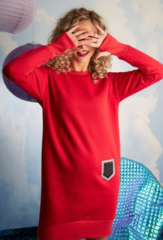#yokko #reddress #ladyinred #casualstyle #casualdress #casuallook #red #winter20 winterfashion #fashionwelove #qualityfashion #madeinromania Lady In Red, Casual Looks, Winter Fashion, Casual Outfits, How To Make, Sweaters, Dresses, Madame Red, Winter Fashion Looks