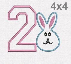 Retrouvez cet article dans ma boutique Etsy https://www.etsy.com/fr/listing/516055091/rabbit-numbers-applique-machine