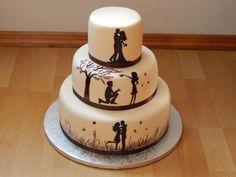 Svadobná so siluetami , svadobné torty | Tortyodmamy.sk