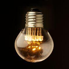 240V Fancy round .5W LED Warm clear Festoon bulb