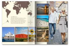 Travel magazine template Mixbook
