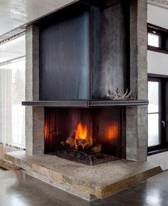 berghaus inneneinrichtung eck-kamin holz wohnzimmer
