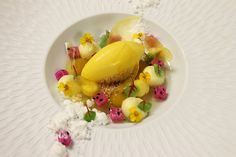 Key Lime Gelee, Passion Fruit Cremeux, Mango Gel, Hazelnut Streusel, Passion Fruit Foam, Dragon Fruits, Passion Fruit Sorbet, Mango Glass, Coconut Snow | Flickr - Photo Sharing!