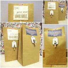 ¡Pega, papel o tijeras!: Fast-Scrap: Bolsas de Papel decoradas