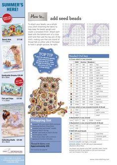 The World of Cross Stitching brings together craft experts and a community of stitchers to help you create fabulous cross stitch patterns, from traditional and Cross Stitch Owl, Cross Stitch Pillow, Cross Stitch Animals, Cross Stitch Designs, Cross Stitching, Cross Stitch Patterns, Stuffed Animal Patterns, Bead Crafts, Fabric