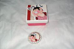 caixa em mdf com sabonete da natura R$22,00