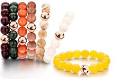 Love these bead bracelets with 18K bead by TIrisi.