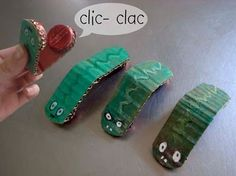 Count out syllables with DIY Clicky Crocs ... fun for the children to make.