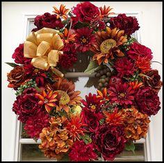 Beautiful Fall Wreaths | Autumn Wreaths | Petal Pusher's Wreaths