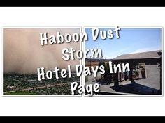 Haboob Dust Storm/ Хабуб песчаная буря /Hotel Days Inn & Suites Page / L...