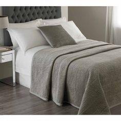 Brooklyn Silver Velvet Large Bedspread