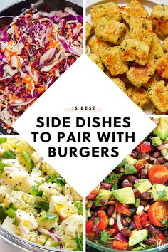 There's nothing more classic than a big, juicy burger with a side of fries. Presenting 15 unexpected sides that pair perfectly with that burger you're craving. Cookout Side Dishes, Dinner Side Dishes, Best Side Dishes, Healthy Side Dishes, Side Dish Recipes, Camping Side Dishes, Healthy Sides For Burgers, Barbeque Side Dishes, Ham Dinner