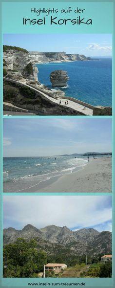Highlights von der Insel Korsika, Bonifacio, Plage de Palombaggia, Bocognano, Frankreich