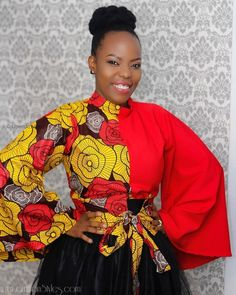 8 Casual Ankara Tops For Women – A Million Styles Ankara Tops Blouses, Ankara Peplum Tops, Ankara Dress Styles, Latest Ankara Styles, African Print Dresses, African Fashion Dresses, African Attire, African Wear, African Prints