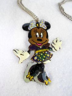 handmade Pendant mini mouse made of brass hand by violettstyle, €28.52