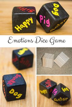 Teach your child about emotions with this fun Animal DIY Emotions Dice Game - My Little Me #toddlers #preschoolers
