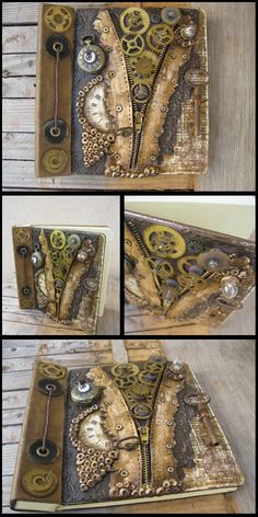 Steampunk mixed media ideas https://www.steampunkartifacts.com/collections/steampunk-wrist-watches