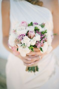 White and Purple Bouquet  | Photo by Byron Loves Fawn