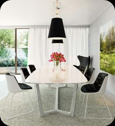 Dining Room Decoration, Dining Room Design Ideas, Dining Room Furnishings, White Dining Room