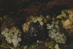 Autor Hiepes, Tomás Título Bodegón de uvas Cronología 1649 Técnica Óleo Soporte Lienzo Medidas 29 cm x 43 cm Escuela Española