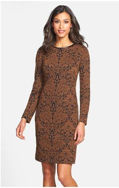 Love this dress.  Great for Fairbanks winters.  Classic cut, textured fabric, which I adore.