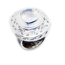 Rose Quartz 925 Sterling Silver Ring bewitching pink suppiler AU KMOQ