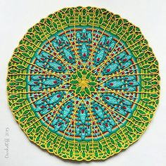 free mosaic patterns for tables Crochet Mandala, Crochet Doilies, Crochet Stitches, Free Mosaic Patterns, Crochet Patterns, Mosaic Tile Table, Mandala Blanket, Mosaic Flower Pots, Crochet Classes