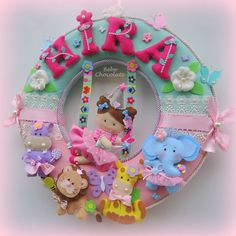 safari kapı süsü, keçe peri, felt fairy, bebek doğum, keçe kapı süsü, bebek kapı…