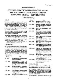 IS 814: Covered Electrodes for Manual Metal Arc...