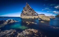 Portknockie, cliffs, coast, sea, Bowfiddle Rock, Scotland