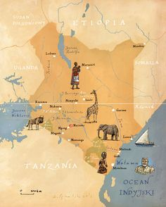 Kenya map by Kapitan Kamikaze - Adam Pękalski