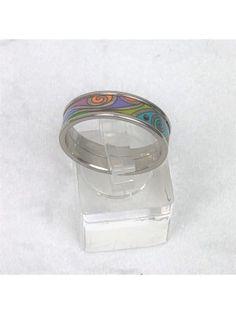 Freywille Designer Ring Hommage à Gustav Klimt Hoffnung (Hope) versilbert Gustav Klimt, Ring Designs, Designer, Rings, Enamel, Stones, Schmuck, Ring, Jewelry Rings