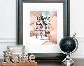 Father of the Bride Gift, Forever Your Little Girl, Photo Quote Art, Dad Quote, Gift for Dad // Choose Art Print or Canvas // W-Q05-1PS QQ5