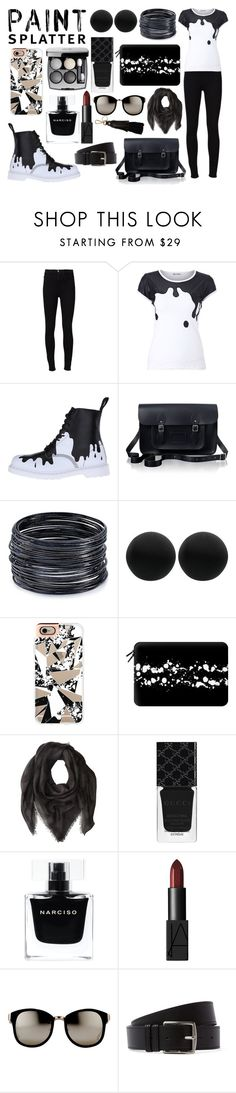 """""""Paint Splatters"""" by phoenixstarr15 ❤ liked on Polyvore featuring Frame Denim, Dr. Martens, The Cambridge Satchel Company, ABS by Allen Schwartz, Thomas Sabo, Casetify, Proenza Schouler, Gucci, Narciso Rodriguez and NARS Cosmetics"""