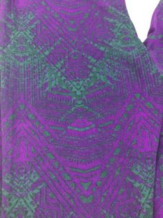 #ValentinesDay LuLaRoe Leggings One Size OS Royal Purple with Green Teal Pattern HTF #ValentinesDay