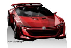 Volkswagen Golf GTI Roadster Vision Gran Turismo, Concept-car exposé au Festival Wörthersee 2014 en mai 2014 et créé pour le jeu GT6
