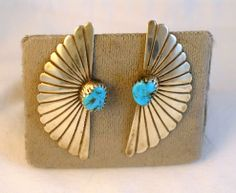 Signed Native American Sterling and Turquoise earrings
