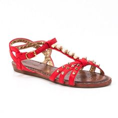 Studded Sandals by  Femini Footwear