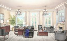 Noble Row Moscow - Clark Smith Architectural Rendering