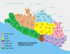 Political division of the State of Guerrero | Hstry