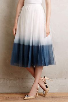 I don't know where one goes while wearing a dip-dyed ballerina skirt, but I want to go to there.