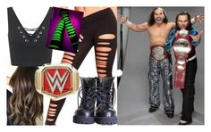 """""""Championship pictures with The Hardys!!"""" by carmellahowyoudoin ❤ liked on Polyvore featuring Amour, Miss Selfridge, WWE, jeffhardy, matthardy and thehardyboys"""