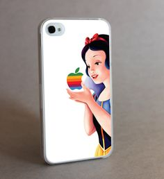 Princess and Apple geek iphone case cover iphone 4 by awesomeskin, $12.50