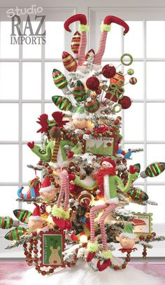 gorgeously decorated christmas trees from raz imports