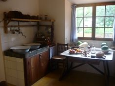 Robert Graves' kitchen in Deia, Majorca