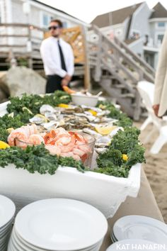 Raw bar on the beach in Scituate, MA | Clambakes Etc: http://www.clambakesetc.net/ | Capers Catering: http://caperscatering.com/ | Kat Hanafin Photography:http://www.kathanafin.com/ | Simeral & Co Event Planning: http://simeralco.com/ | Rentals Unlimited: http://www.rentals-unlimited.net/ | Sperry Tent: http://www.sperrytentsseacoast.com/