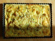 Τάρτα με καραμελώμενα κρεμμύδια, πατάτες και παρμεζάνα