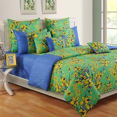 Daisy #Blue Swayam #ColorsOfLife #BedSheets - 2409
