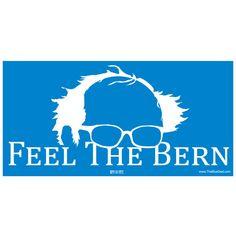 Feel The Bern Bumper Sticker. Union-Printed. Bulk Discounts. Ships Next Day! #FeelTheBern